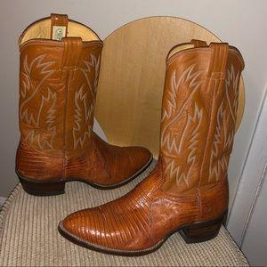 Nocona Teju Lizard Skin Cowboy Boots